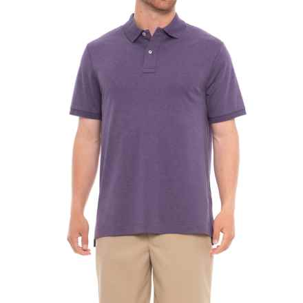 Specially made Solid Knit Polo Shirt - Short Sleeve (For Men) in Purple - Closeouts