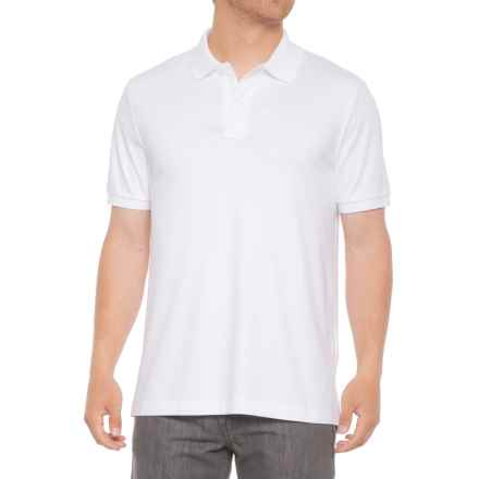 Specially made Solid Knit Polo Shirt - Short Sleeve (For Men) in White - Closeouts