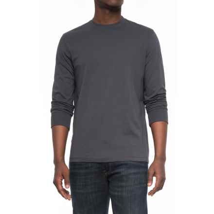 Specially made Solid Knit T-Shirt - Long Sleeve (For Men) in Dark Grey - Closeouts