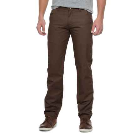 Specially made Solid Twill Pants (For Men) in Brown - Closeouts