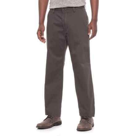 Specially made Solid Twill Pants - Relaxed Fit, Straight Leg (For Men) in Dark Grey - Closeouts