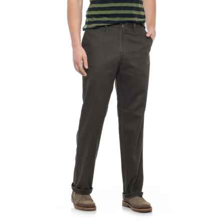 Specially made Solid Twill Woven Pants (For Men) in Dark Brown - 2nds