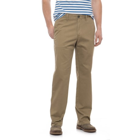 Specially made Solid Twill Woven Pants (For Men) in Khaki