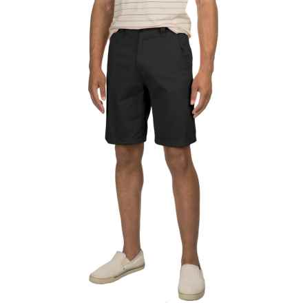 Specially made Solid Twill Woven Shorts (For Men) in Black - 2nds