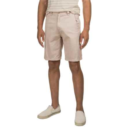 Specially made Solid Twill Woven Shorts (For Men) in Stone - 2nds