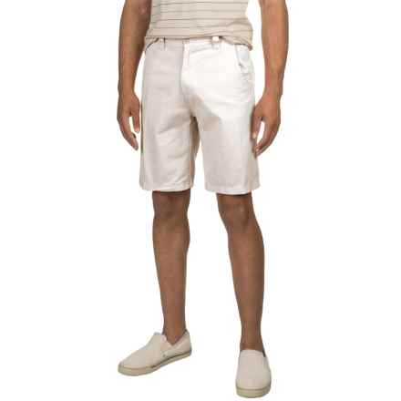 Specially made Solid Twill Woven Shorts (For Men) in White - 2nds