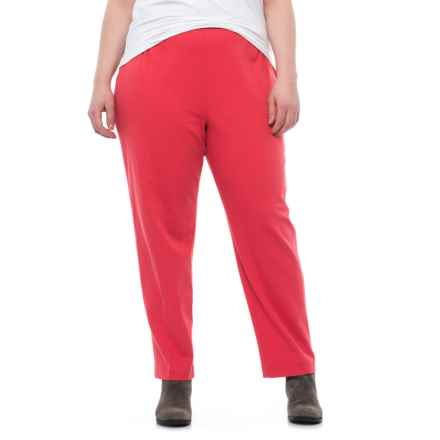 Specially made Stretch Cotton Chino Pants (For Plus Size Women) in Dark Coral - 2nds