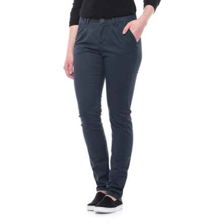 Specially made Stretch Cotton Pants - Straight Leg (For Women) in Navy - 2nds