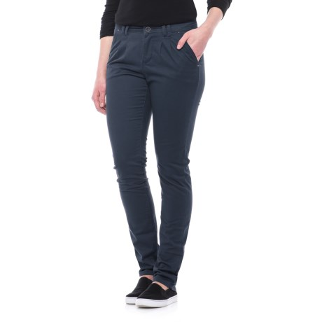 Specially made Stretch Cotton Pants - Straight Leg (For Women) in Navy