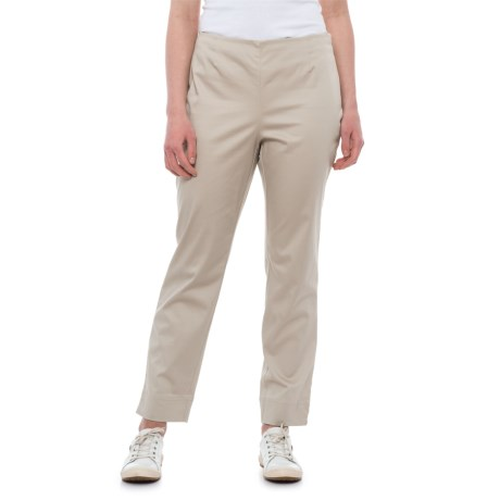 Specially made Stretch Cotton Sateen Bootcut Pants (For Women) in Khaki
