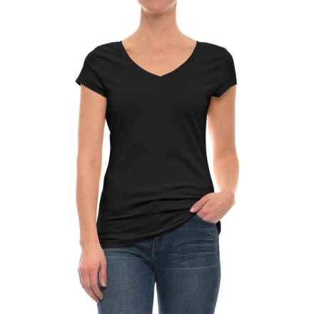 Specially made Stretch Cotton Shirt - Short Sleeve (For Women) in Black - 2nds