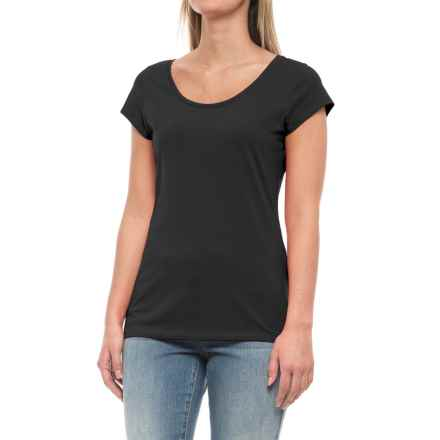 Specially made Stretch-Cotton Shirt - Short Sleeve (For Women) in Black - 2nds