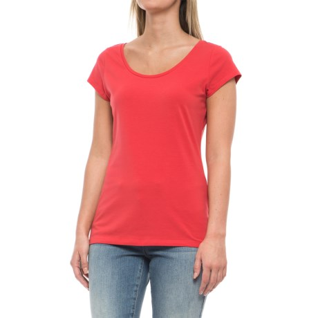 Specially made Stretch-Cotton Shirt - Short Sleeve (For Women) in Brick