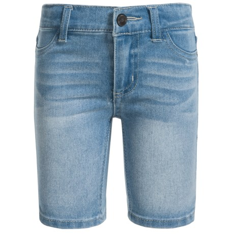 Specially made Stretch Denim Bermuda Shorts (For Little Girls) in Vintage Lt