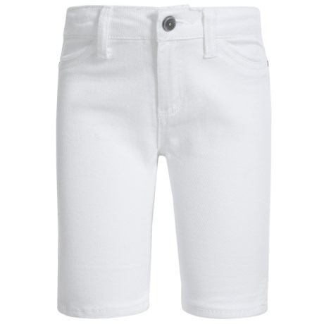 Specially made Stretch Denim Bermuda Shorts (For Little Girls) in White
