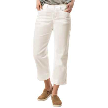 Specially made Stretch Twill Capris - Mid Rise (For Women) in White - 2nds
