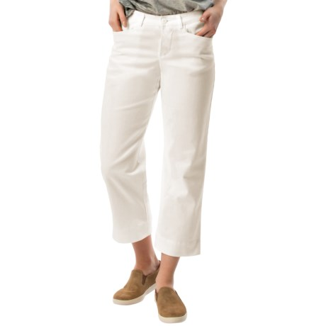 Specially made Stretch Twill Capris - Mid Rise (For Women) in White