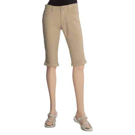 Specially made Stretch Twill Shorts - Cuffed (For Women) in Khaki - 2nds