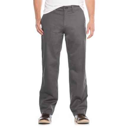 Specially made Stretch Twill Utility Chino Pants (For Men) in Iron - Closeouts