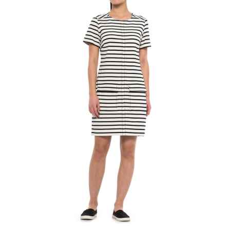 Specially made Striped Dress - Short Sleeve (For Women) in White - 2nds