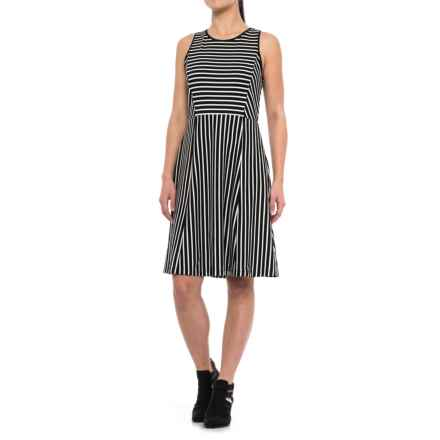 Specially made Striped Dress - Sleeveless (For Women) in Black Stripe - 2nds