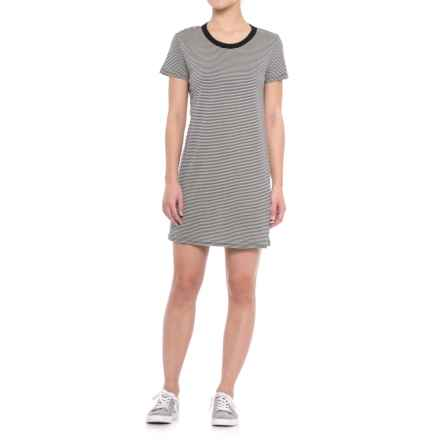 Specially made Striped Knit Dress - Short Sleeve (For Women) in Black/White - 2nds