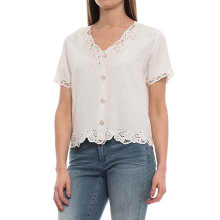 Specially made Sweetwater Lace Shirt - Rayon, Short Sleeve (For Women) in Ivory - 2nds