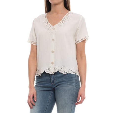 Specially made Sweetwater Lace Shirt - Rayon, Short Sleeve (For Women)