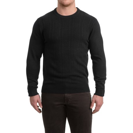 Specially made Textured Crew Neck Sweater (For Men) in Black