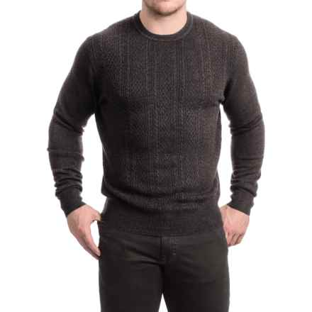 Specially made Textured Crew Neck Sweater (For Men) in Grey - 2nds