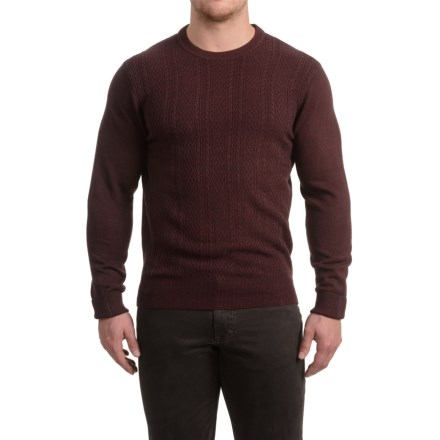 e475fffdf9eac1 Clearance. Specially made Textured Crew Neck Sweater (For Men) in Mulberry  - 2nds