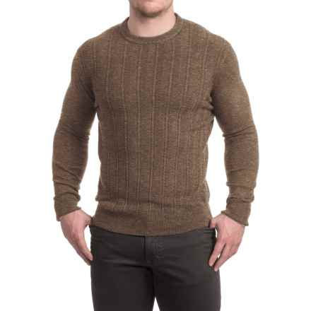 Specially made Textured Crew Neck Sweater (For Men) in Taupe - 2nds