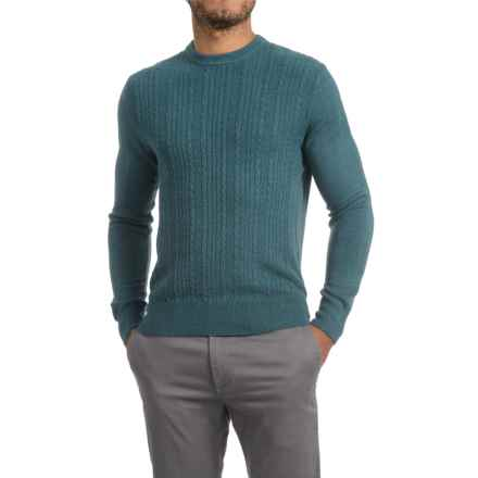 Specially made Textured V-Neck Sweater (For Men) in Aqua - 2nds