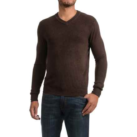 Specially made Textured V-Neck Sweater (For Men) in Brown - 2nds