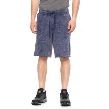 Specially made Three-Pocket Acid Wash Cutoff Shorts (For Men) in Blue - 2nds