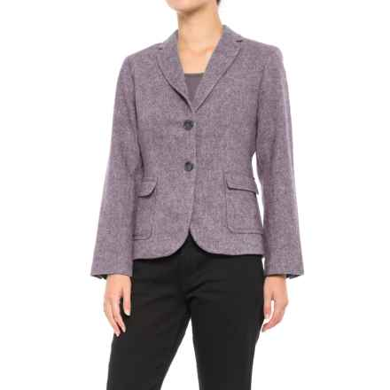 Specially made Three-Pocket Wool Blazer (For Women) in Grape Herringbone - 2nds