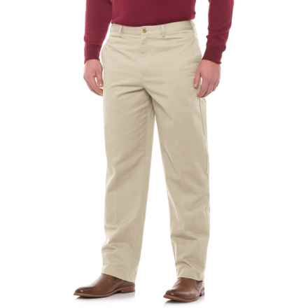 Specially made Traditional Fit Flat-Front Pants (For Men) in Sand - Closeouts