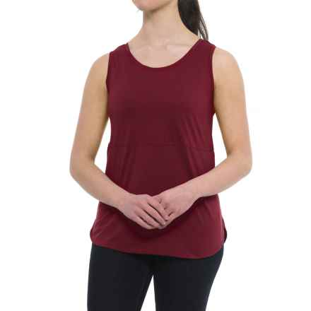 Specially made Tunic Shirt - Sleeveless (For Women) in Burgundy - Closeouts
