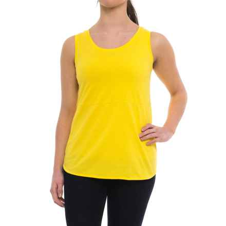 Specially made Tunic Shirt - Sleeveless (For Women) in Yellow - Closeouts