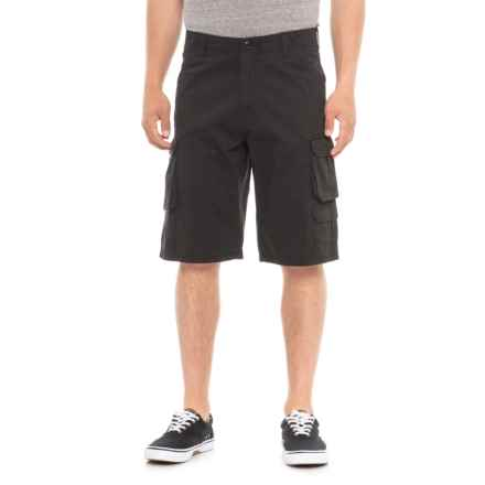 Specially made Twill 7-Pocket Cargo Shorts (For Men) in Black - Overstock