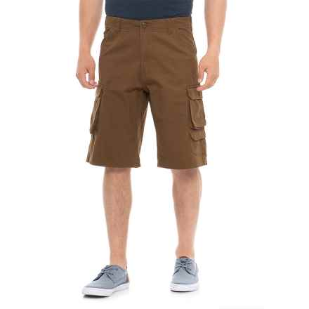 Specially made Twill 7-Pocket Cargo Shorts (For Men) in Brown - Overstock