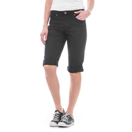 Specially made Twill Bermuda Shorts (For Women) in Black - 2nds