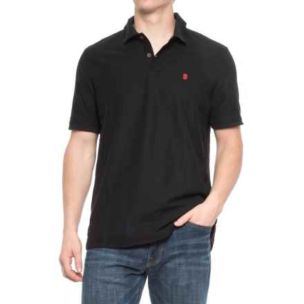 Specially made Two-Button Pique Knit Polo Shirt - Short Sleeve (For Men) in Black - 2nds
