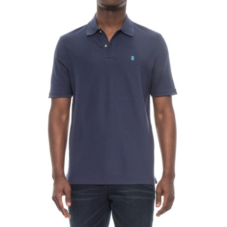 Specially made Two-Button Pique Knit Polo Shirt - Short Sleeve (For Men) in Navy