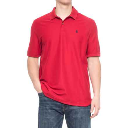 Specially made Two-Button Pique Knit Polo Shirt - Short Sleeve (For Men) in Red - 2nds