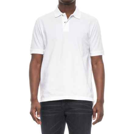 Specially made Two-Button Pique Knit Polo Shirt - Short Sleeve (For Men) in White - 2nds