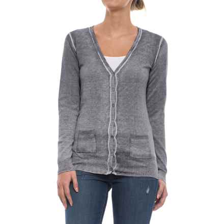 Specially made Two-Pocket Cotton Cardigan Sweater (For Women) in Navy Wash - 2nds