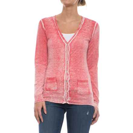 Specially made Two-Pocket Cotton Cardigan Sweater (For Women) in Pink Wash - 2nds