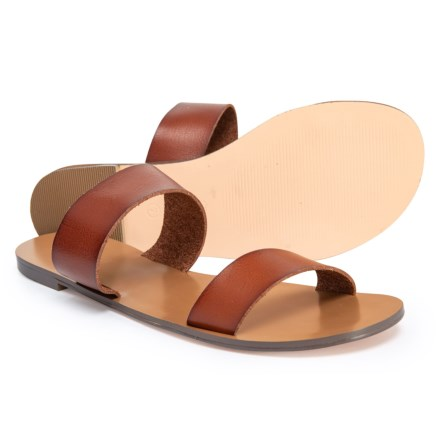 1fe97433cc Specially made Two-Strap Leather Sandals (For Women) in True Tan