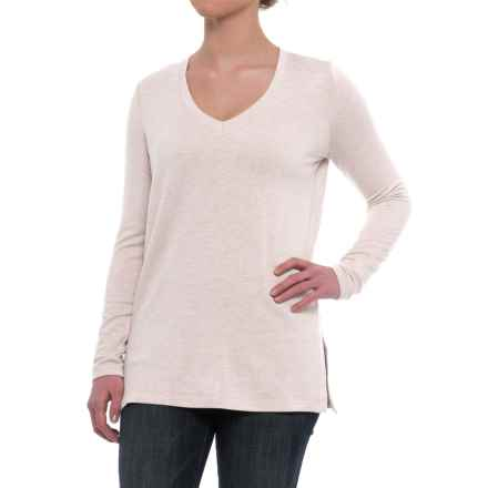Specially made V-Neck Knit Shirt - Long Sleeve (For Women) in Grey - 2nds